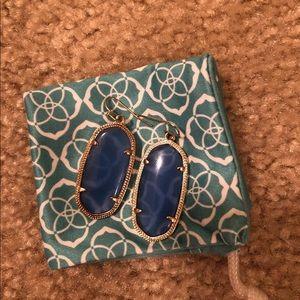Periwinkle Blue Elle Earrings in Gold